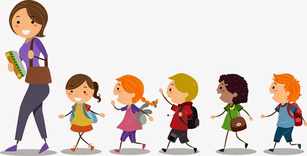 Children Standing In Line Clipart.