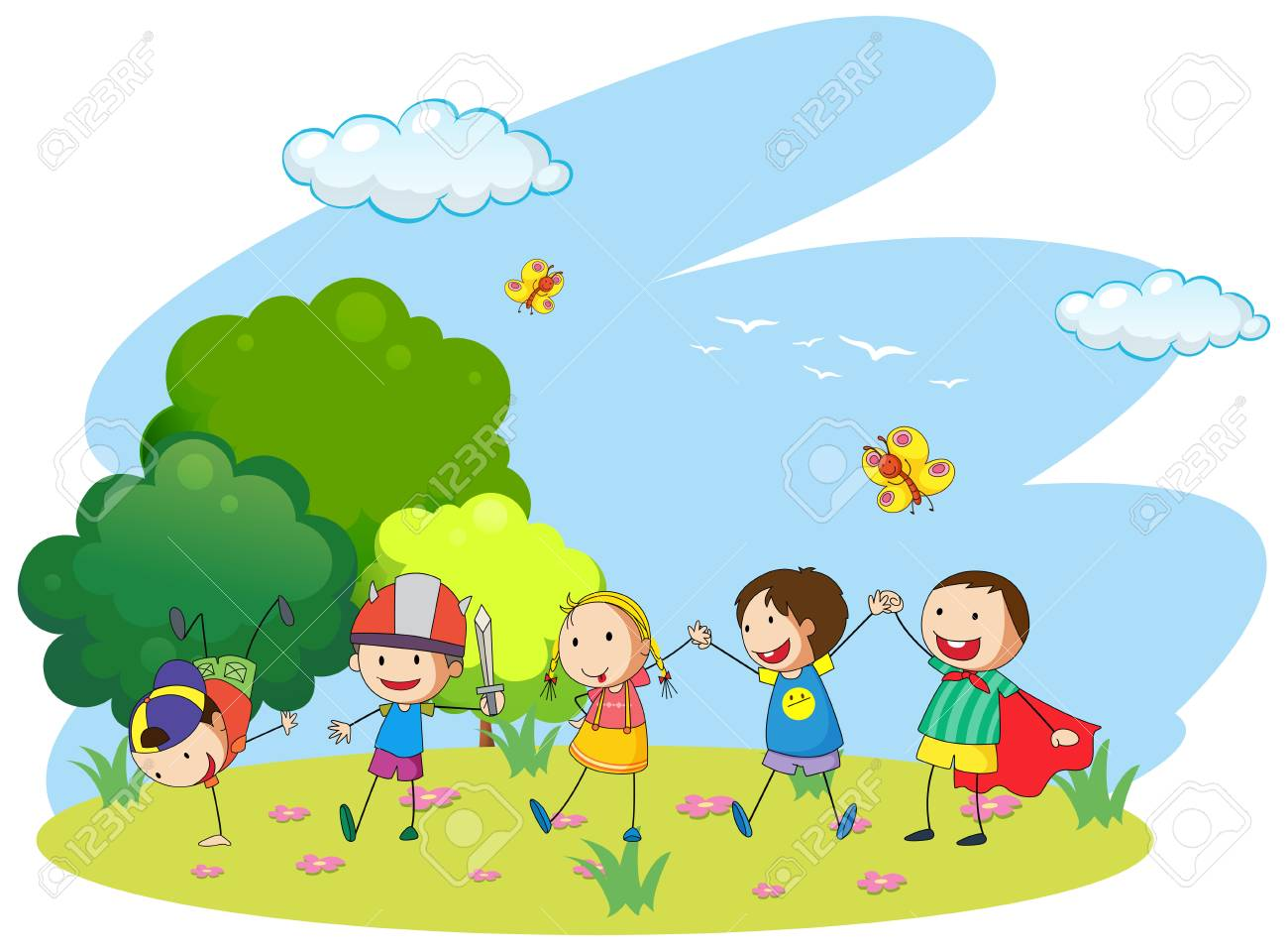 Children Garden Clipart.