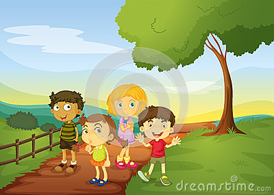 children in nature clipart - Clipground