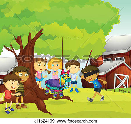 Clipart of kids k11553342.