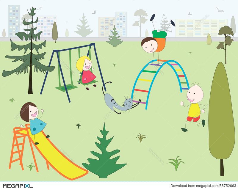 Park clipart childrens park, Park childrens park Transparent.