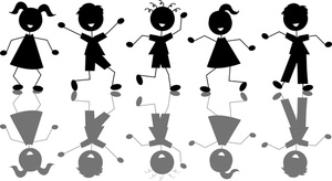 Jumping For Joy Clipart Image.