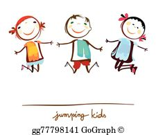 Kids Jumping Clip Art.