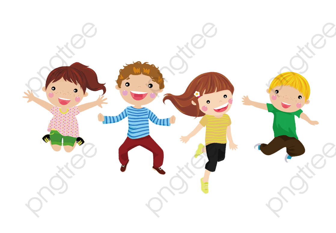 Children Jump, Children, Happy, Jumped Up PNG Transparent Clipart.