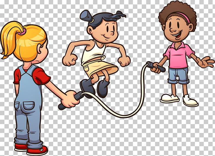 Play Jump Ropes Cartoon , skipping child, kid\'s playing.