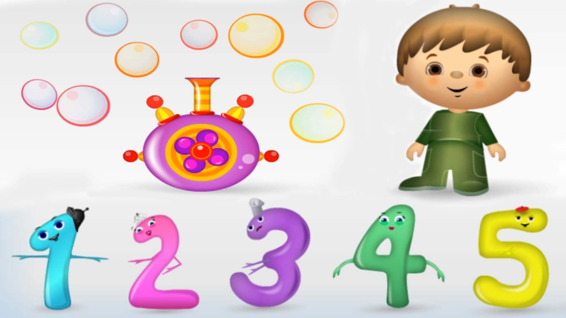 Numbers for Kids, Counting 1 to 10, Fun Math Game, Learning Videos.