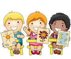 Children Learning Math Clipart.