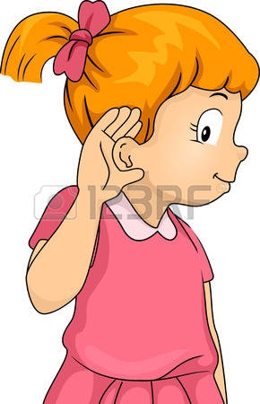 Children Listening Clipart.