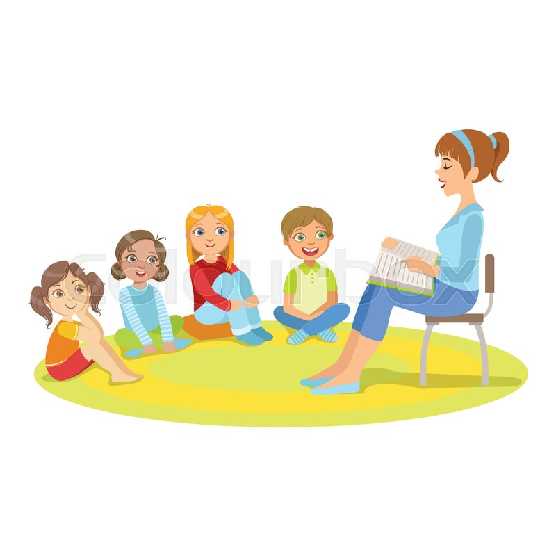Children listening to teacher clipart 7 » Clipart Station.