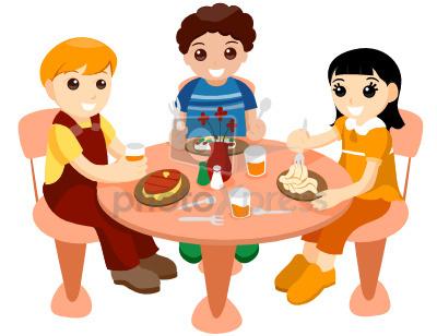 children lunch vector stock.