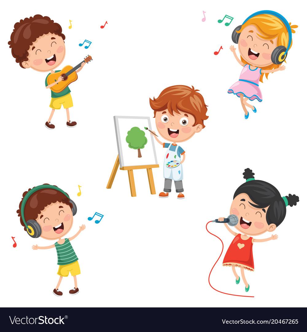 Kids making art.
