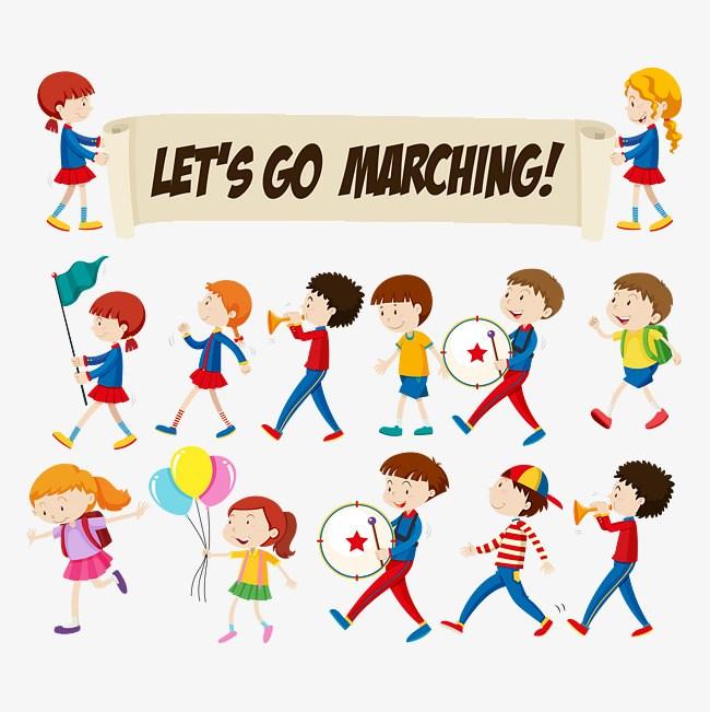 Children marching clipart 9 » Clipart Portal.