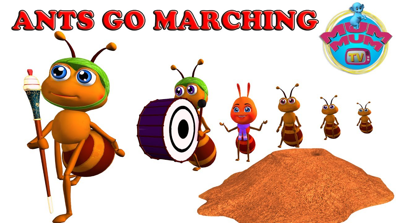 The Ants Go Marching Song with Lyrics.