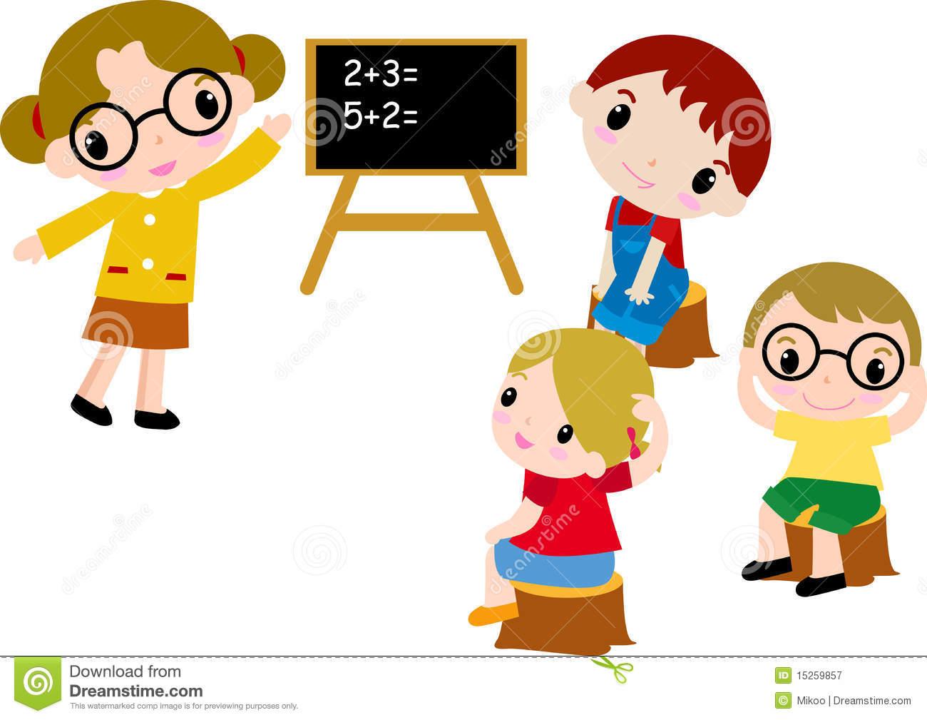Kids Doing Math Clipart.