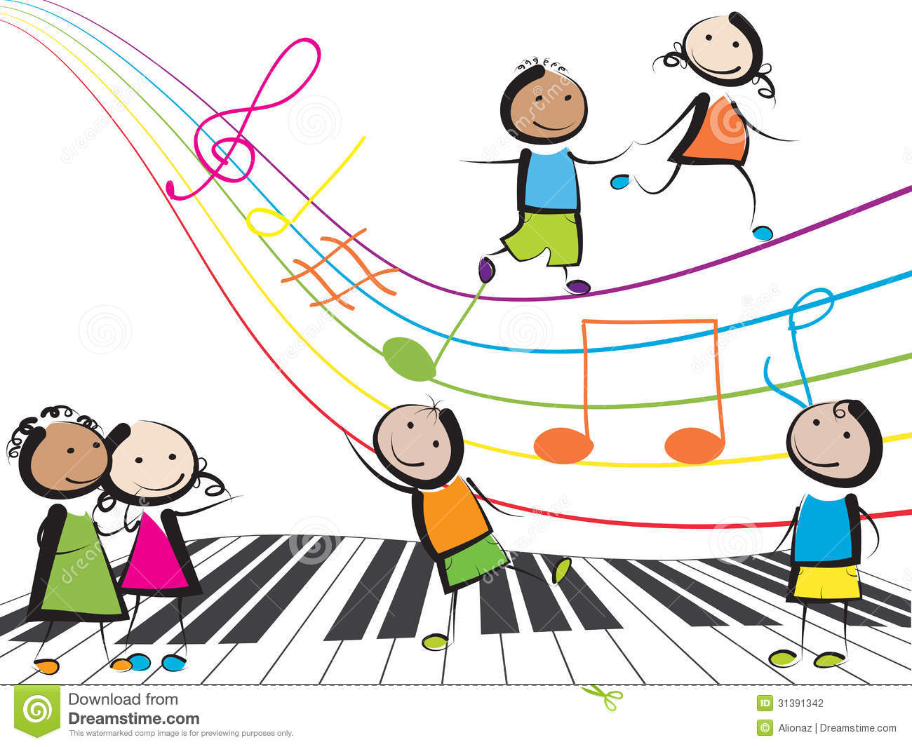 Children Playing Music Clipart No Background.