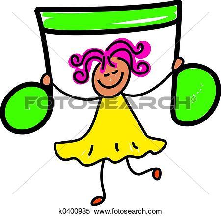 Stock Image of children, child, kid, musical note, music, dress.
