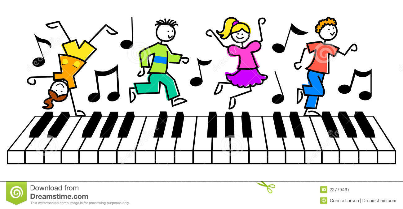 Kids Playing Music Clipart.