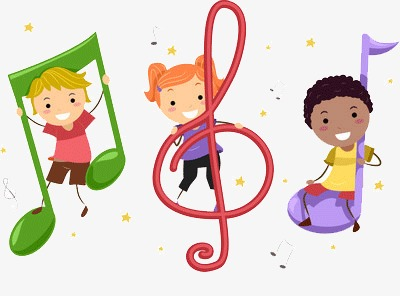Children playing music PNG clipart.