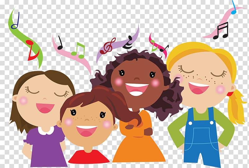 Children\\\'s choir Children\\\'s music, child transparent.