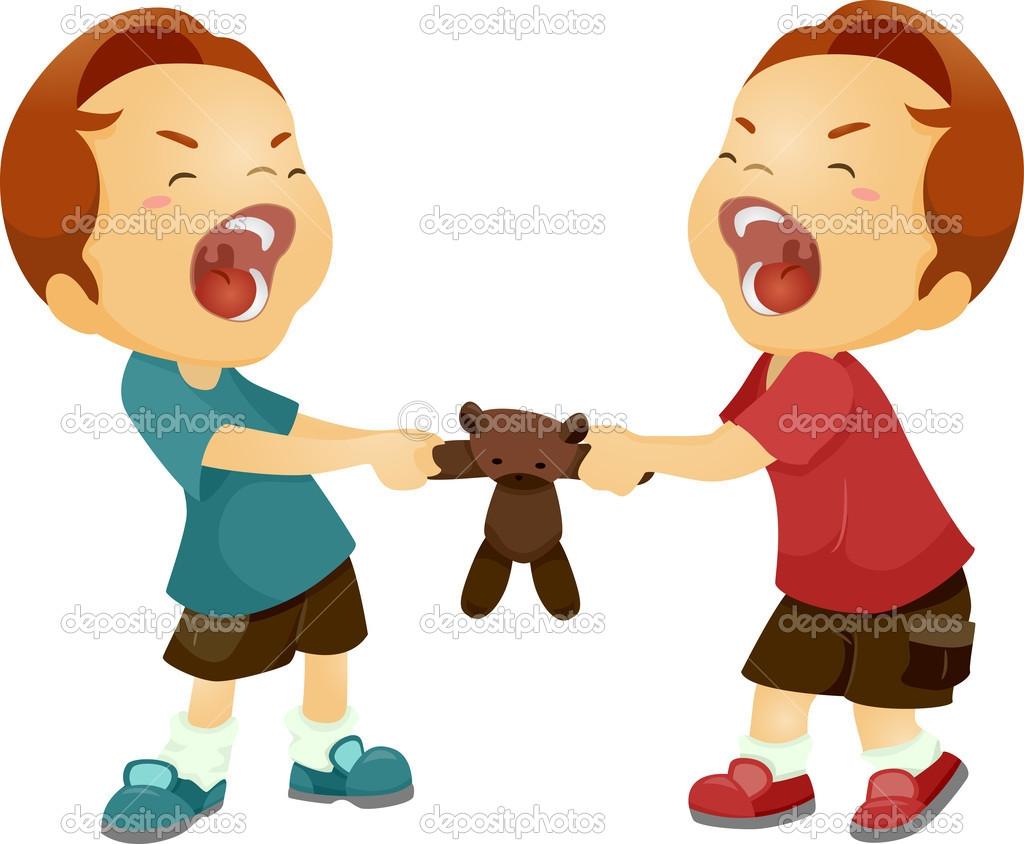 Children Not Sharing Clipart.