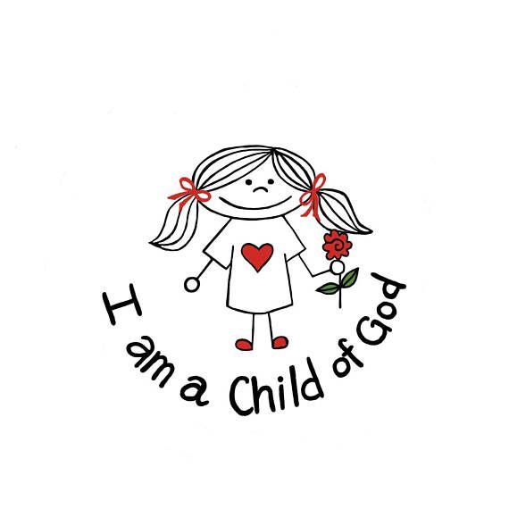I am a Child Of God Clip Art.