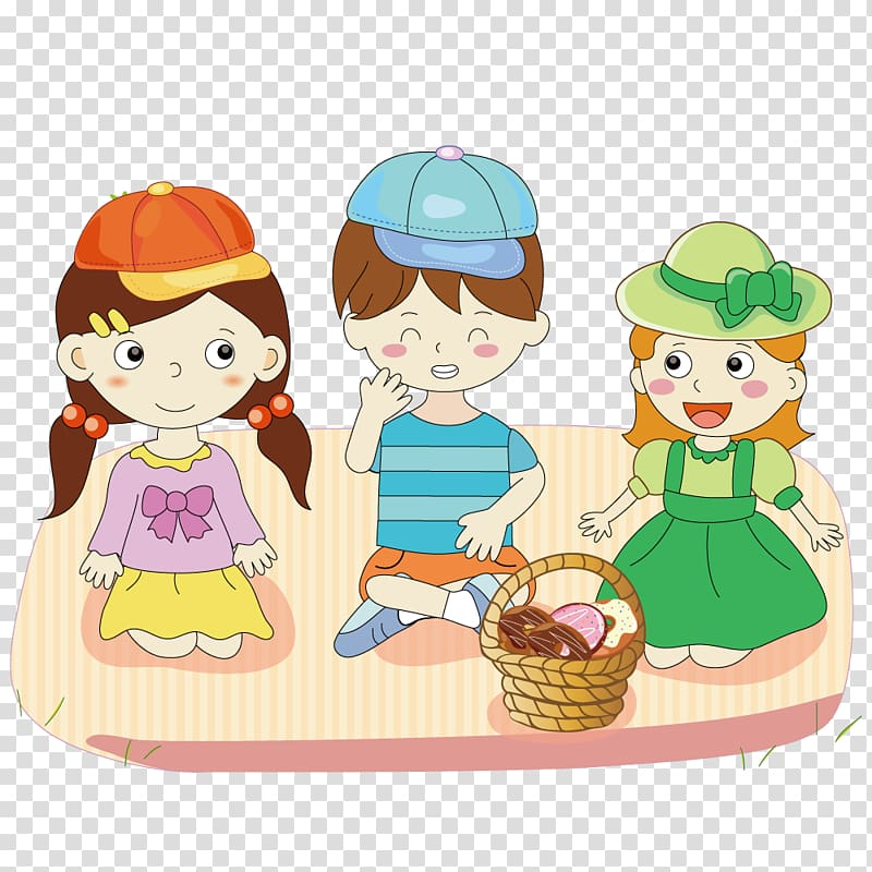Child Illustration, Picnic children transparent background.