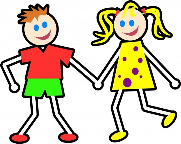 Cartoon Kids Clipart Free Stock Photo.