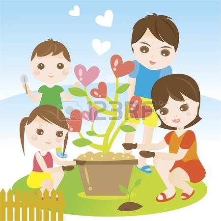 1,685 Children Gardening Stock Vector Illustration And Royalty.