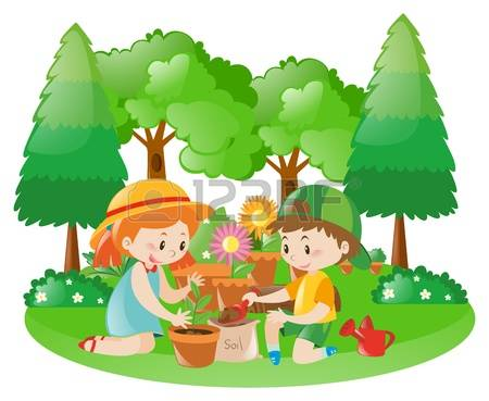 147 Child Planting A Tree Cliparts, Stock Vector And Royalty Free.