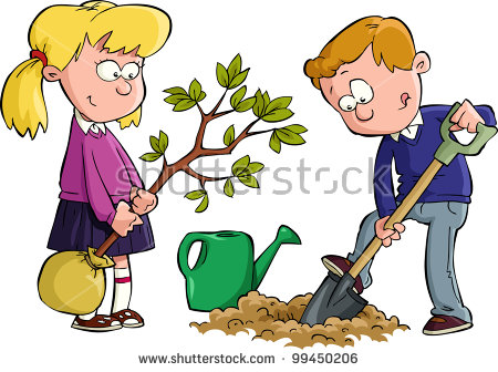 Children Planting Stock Vectors, Images & Vector Art.