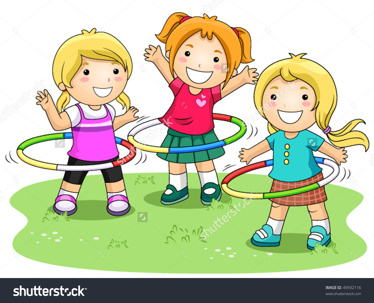 Clipart Kids Playing Outside.