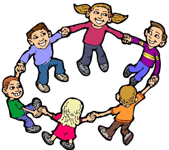 children at play clip art.