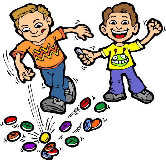 Children Playing Games Clip Art free image.