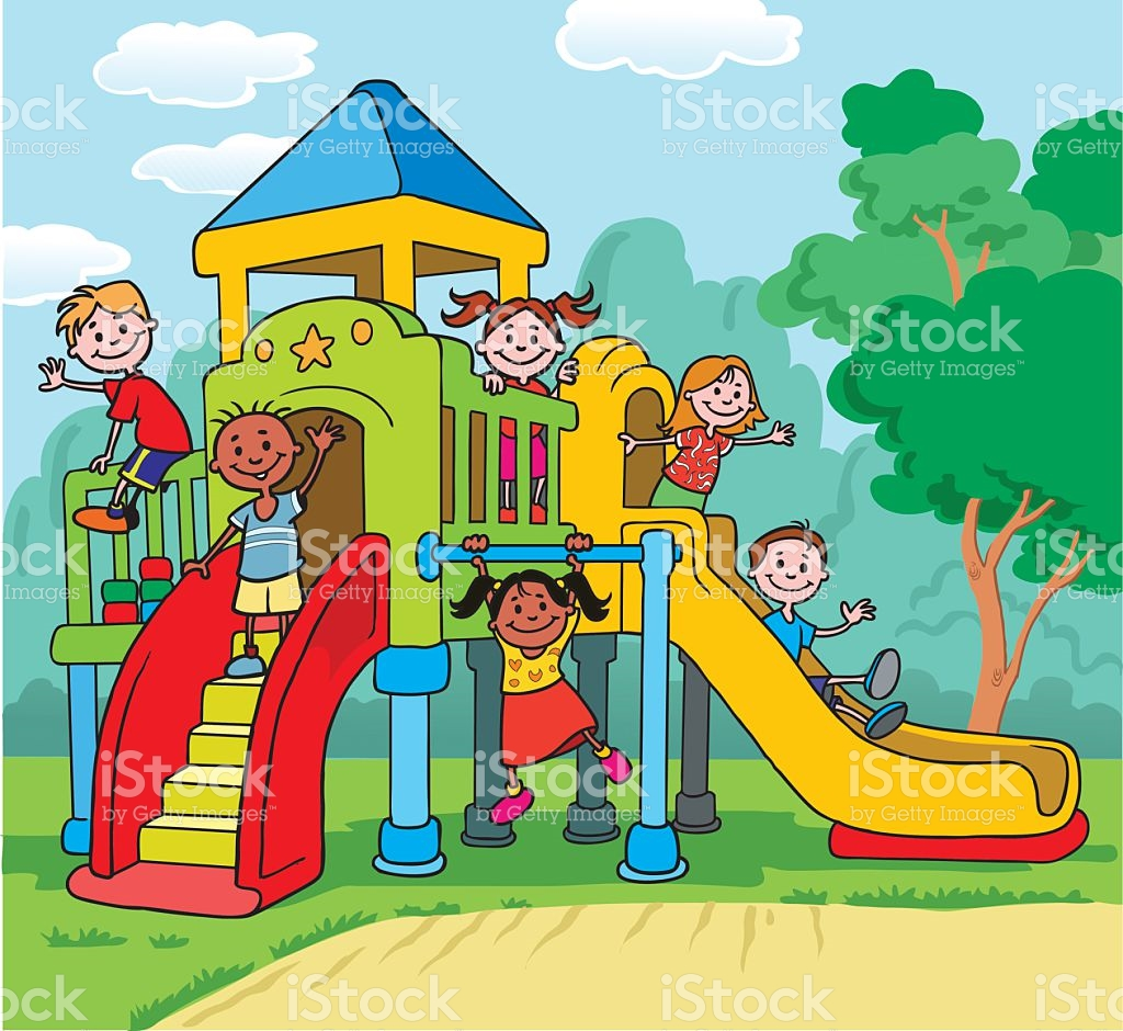 Children playing on playground clipart » Clipart Station.