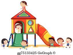 Kids Playground Clip Art.