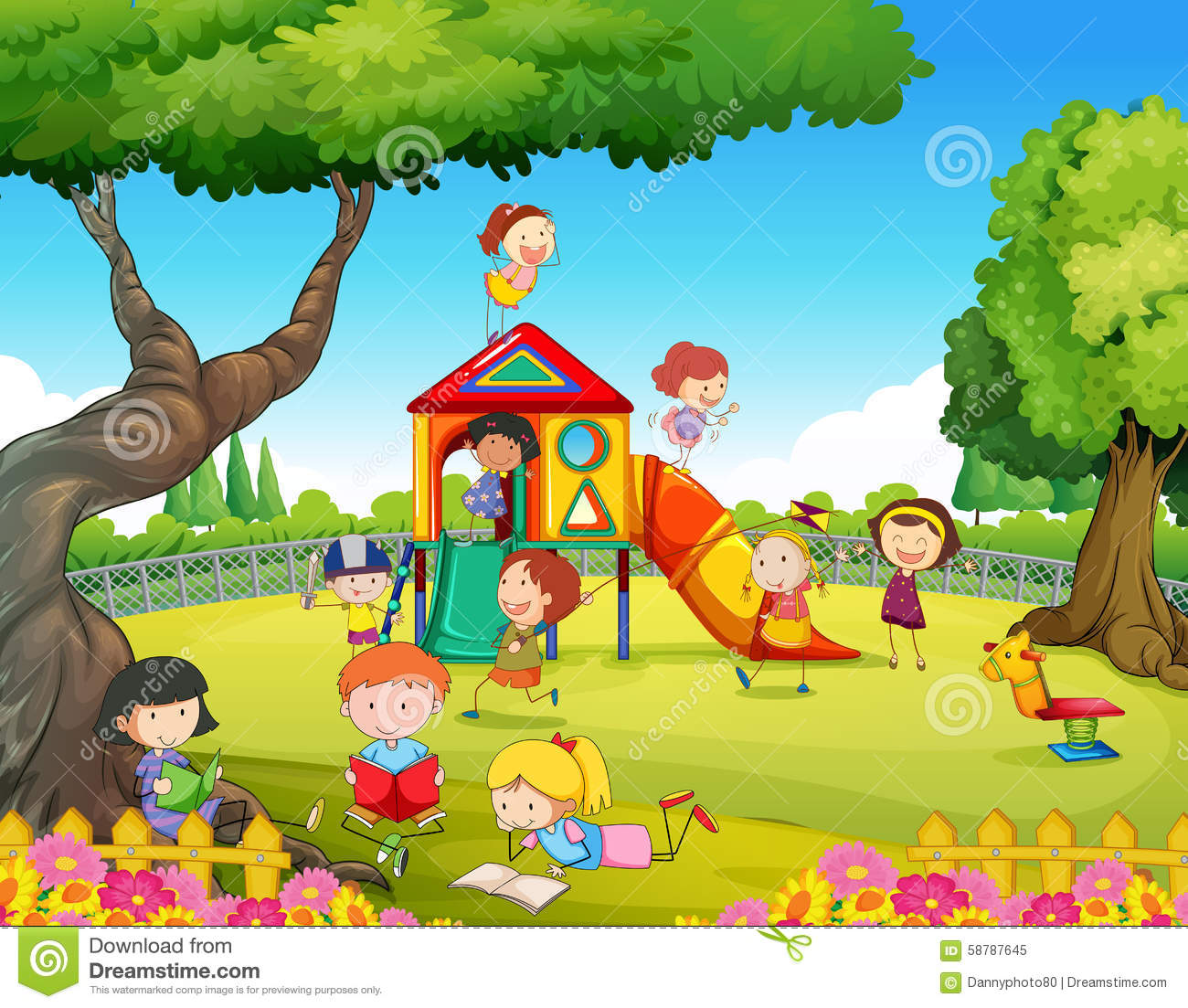 Children playing on playground clipart 4 » Clipart Station.