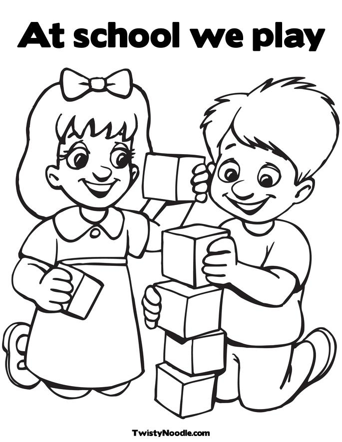 Children Playing In School Clipart Black And White.