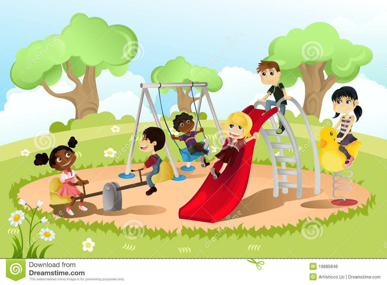 Children playing in the park clipart 14 » Clipart Station.