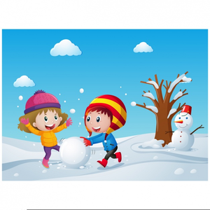 Free Clipart Children Playing Snow.