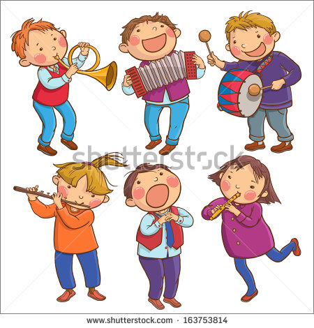 children playing musical instruments clipart #8