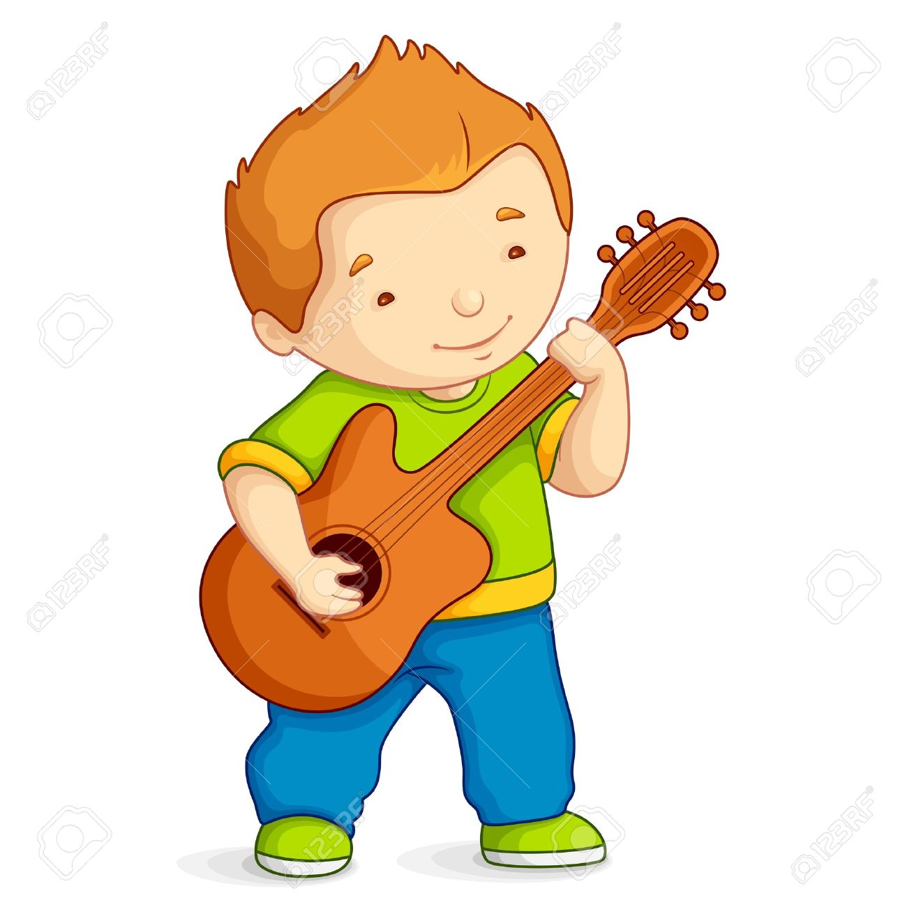 Kid Playing Guitar Royalty Free Cliparts, Vectors, And Stock.