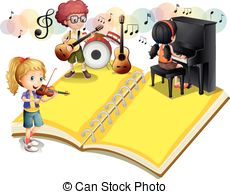 Playing musical instrument Illustrations and Clip Art. 24,263.