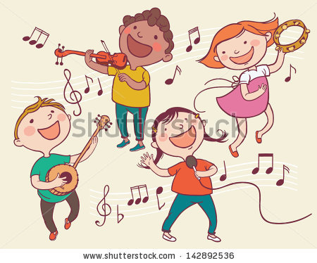 children playing musical instruments clipart #1