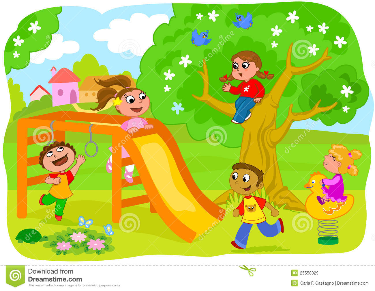 Kids playing on playground clipart 8 » Clipart Station.
