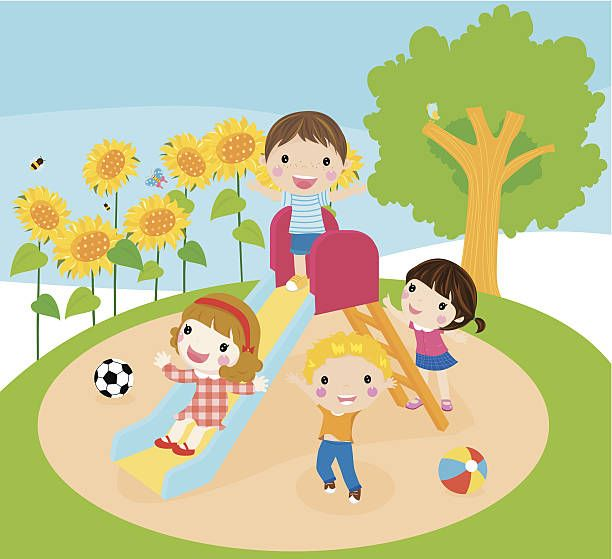 Children playing on playground clipart 2 » Clipart Station.