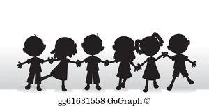 Child Silhouette Clip Art.
