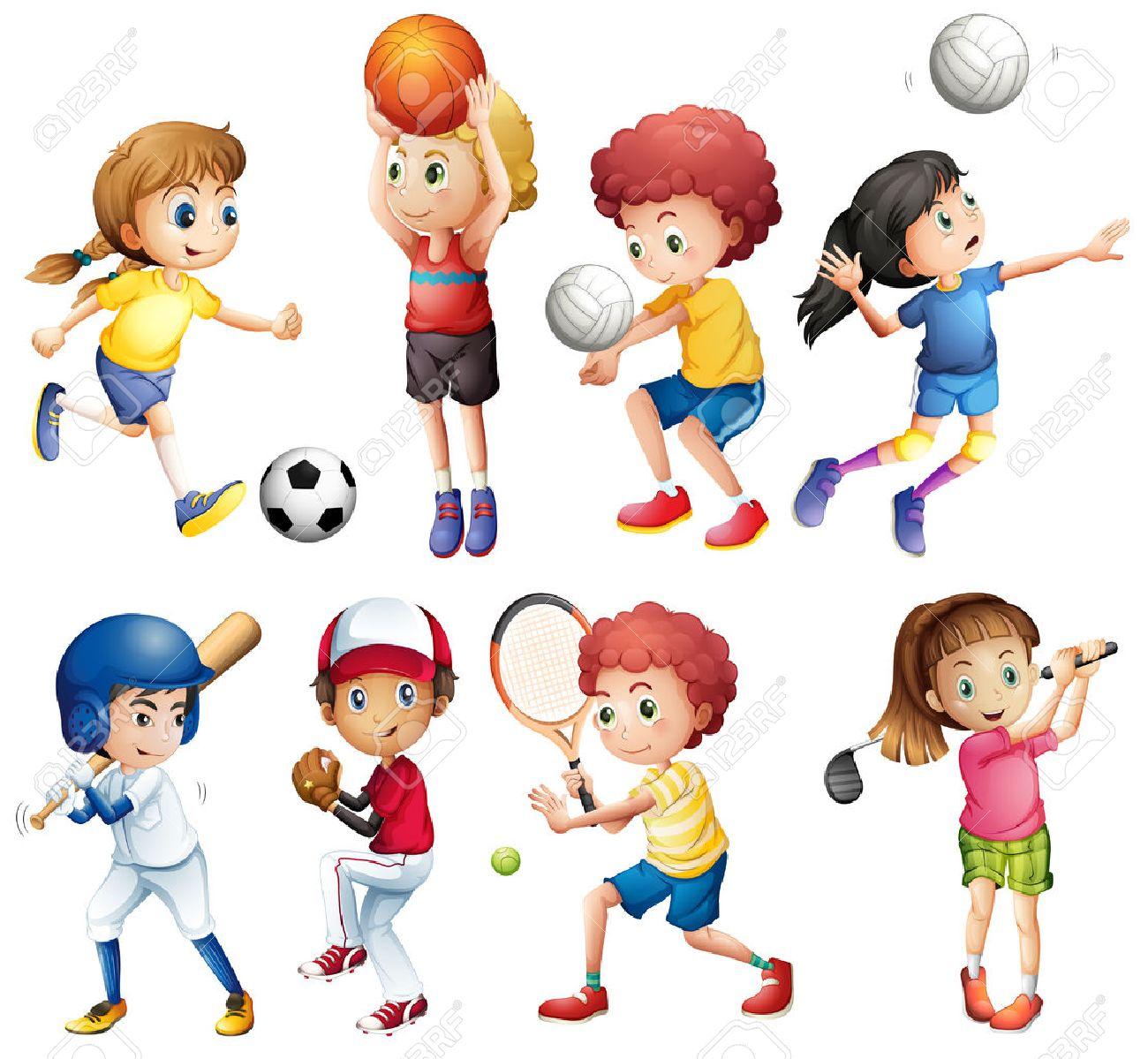 Children Sports Clipart.