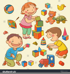 Free Clipart Of Kids Playing Together.
