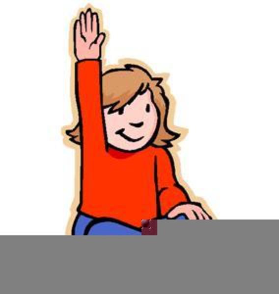Clipart Children Raising Hands.