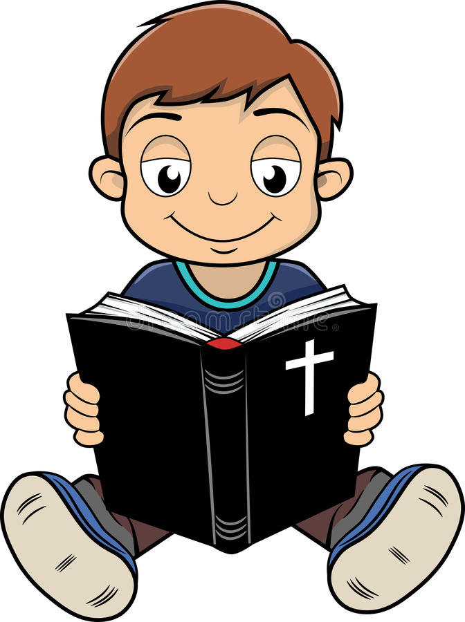 Clipart Reading Bible.